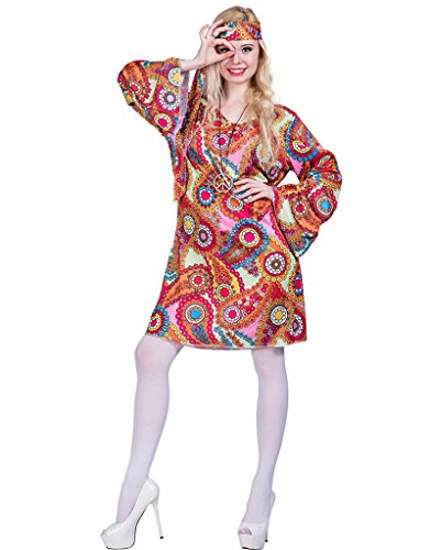 Ladies Halloween Costumes Pictures (FantastCostumes Women's 70's Hippie Halloween Costume(As Picture, Small))