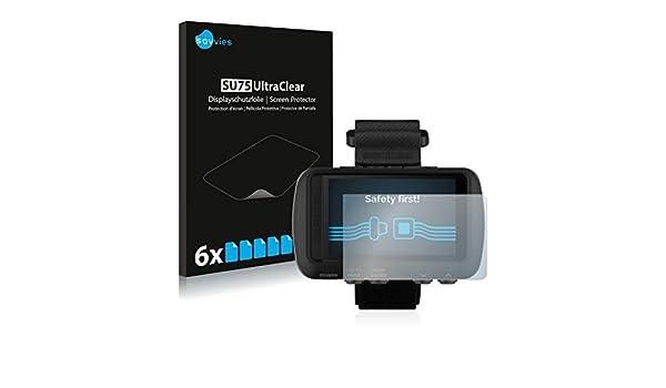 6 Unidades Pelicula Ultra Transparente savvies Protector Pantalla Compatible con Garmin Foretrex 601