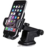 Kiaox Phone Holder for Car, Car Phone Mount,Dashboard Cell Phone Holder for iPhone X 8/8Plus/7/7Plus/6/6Plus/5s/6s/Nexus/Galaxy S9 Plus/S8 Plus/OnePlus/S7 Edge - Black