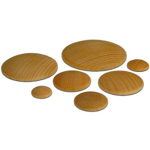 33 Holzplatinen gew/ölbt rund /Ø 50mm Basteln Holzarbeiten mit Kindern