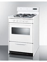 Summit WTM6307KSW Kitchen Cooking Range, White