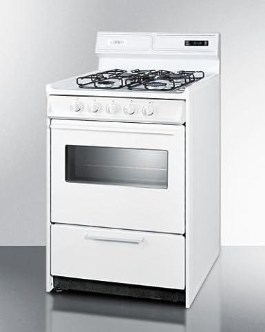 Amazon.com: Summit WTM6307KSW Kitchen Cooking Range, White ...