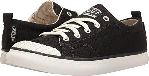 KEEN Women's Elsa Sneaker, Black/Star White, 9 M US