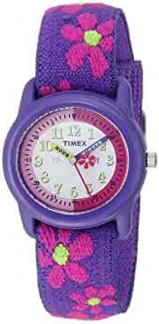 Timex Analog Youth Watch - Kidz Analog | Purple Case & Elastic Strap
