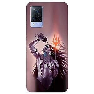SmartNxt® Designer Printed Soft Plastic Mobile Cover for Vivo V21 5G  Spiritual  Multi-Coloured  Lord Shiva with Damru