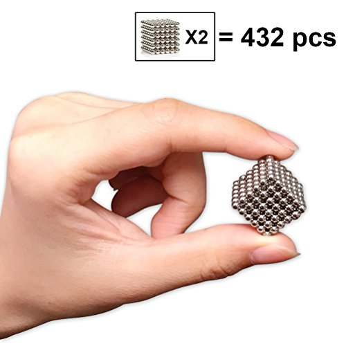 Magnetic Decompression Ball, Magical buck balls Toy for Stress Relief Intelligence and Development, DIY Office Decoration (3mm ,432 balls)