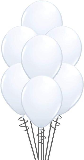 Uteruik Globos de látex biodegradables Blancos, 13 cm, Redondos ...