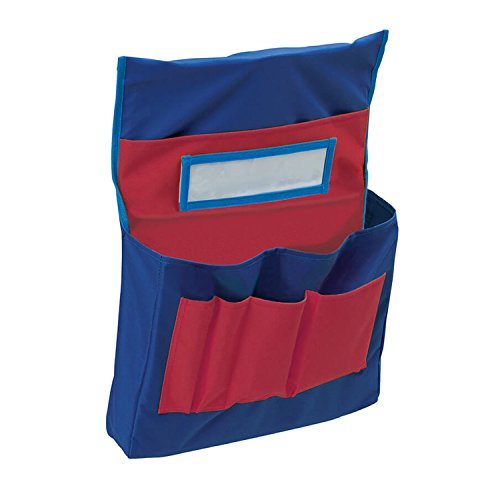 Pacon PAC20060BN Pocket Chart, Chair Storage, Blue & Red, 18-1/2
