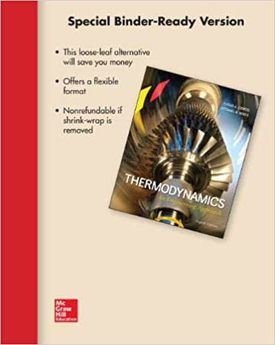 Loose leaf for thermodynamics an engineering approach yunus a loose leaf for thermodynamics an engineering approach 8th edition fandeluxe Gallery