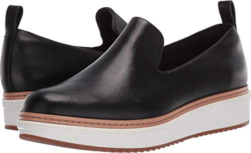 (CLARKS Women's Teadale Genna Black Leather 5.5 B US)