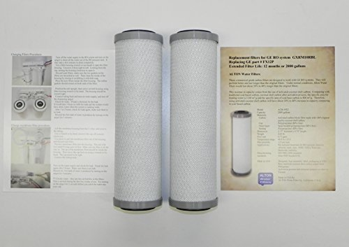 Sink Kitchen 40 Shell (Pack of 2 filters, ALTON brand comparable filters to GE FX12P for GXRM10RBL, PNRV12, GXRV10 RO water systems, commercial grade, last longer)