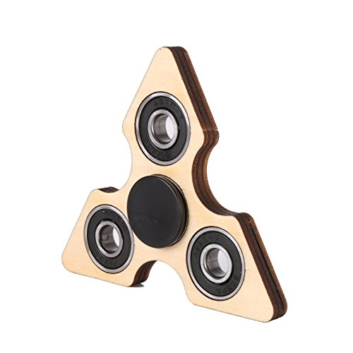 [Adarl Speed Up Upgraded EDC Hand Spinner Toy Stress Reducer Smooth Durable Hybrid Ceramic Bearing Multiple Choices Wooden Spinner Blue] (Animal That Starts With J)