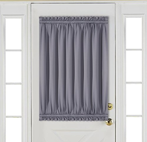Best Dreamcity Room Darkening Insulated Thermal French Door Rod Pocket Blackout Curtains With Bonus Tieback, Single Panel, W52