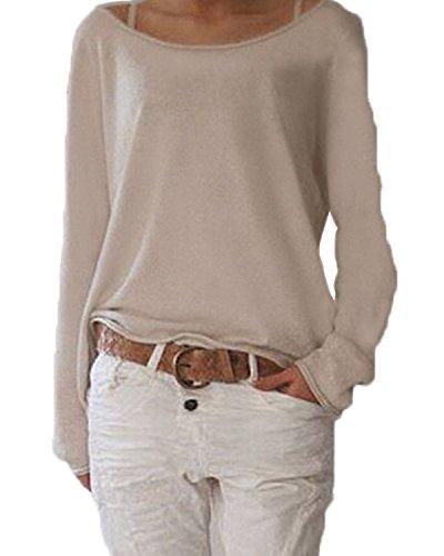 ZANZEA-Damen-Langarm-Lose-Bluse-Hemd-Shirt-Oversize-Sweatshirt-Oberteil-Tops