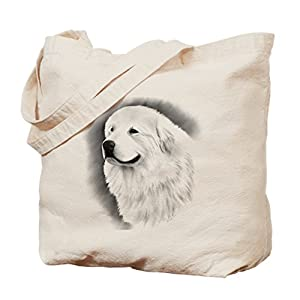 CafePress Great Pyrenees Bairney 2, Natural Canvas Tote Bag, Reusable Shopping Bag 16