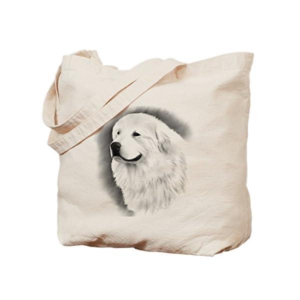 CafePress Great Pyrenees Bairney 2, Natural Canvas Tote Bag, Reusable Shopping Bag 1