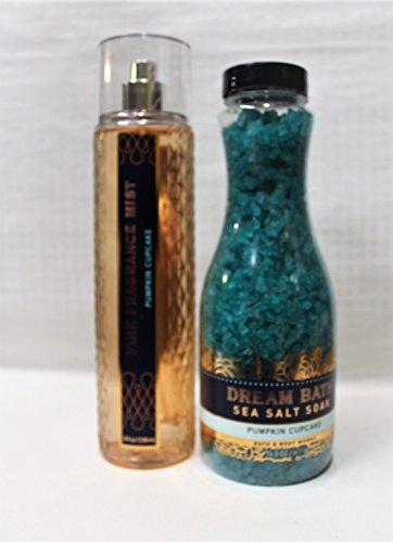 Bath & Body Works - Pumpkin Cupcake - Dream Bath Sea Salt Soak & Fine Fragrance Mist