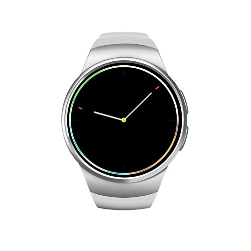 White Jinsheng Smartwatch iOS Android Touch Screen Pedometers Long Standby Activity Tracker Sleep Tracker Find My Device 64MB