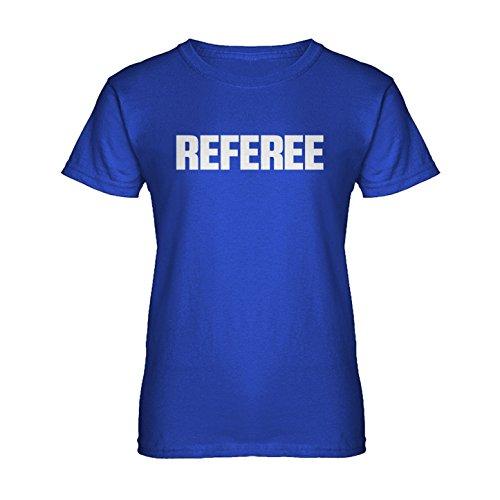 [Womens Referee T-Shirt Royal Blue Large] (Referee Shirts Costume)
