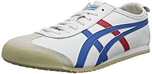 Onitsuka Tiger Mexico 66 Fashion Sneaker, White/Blue, 13 M Men's US/14.5 Women's M US