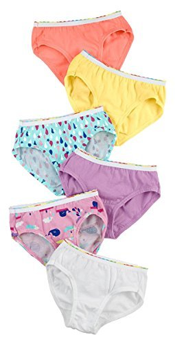 Hanes TAGLESS Toddler Girls Pre-Shrunk Cotton Hipsters 6-Pack_Assorted_4 - Hanes Smooth Hosiery