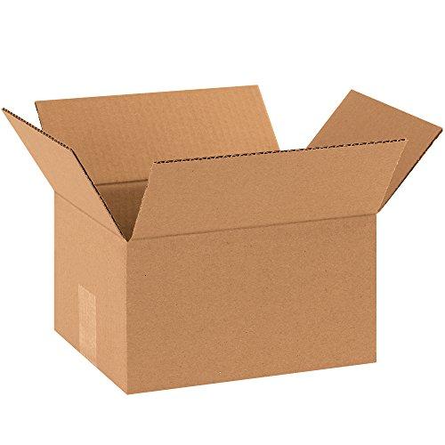 """BOX USA B1086200PK Corrugated Boxes, 10""""L x 8""""W x 6""""H, Kraft (Pack of 175) from BOX USA"""