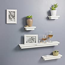 Decorative Wall Shelves and Photo Frame set of 6pcs in White finish