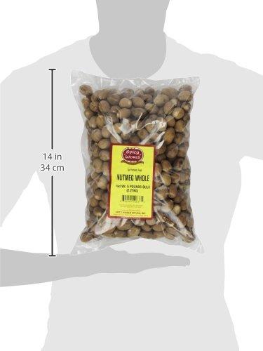 Spicy World Whole Nutmeg Bulk, 5-Pounds