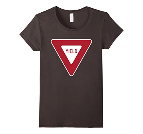 Stop Sign Costume (Womens Yield Traffic Sign T-Shirt Traffic Safety Stop Street Sign Large Asphalt)
