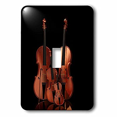 3dRose lsp_200920_1 String Instruments Violin, Bass and Cello Light Switch Cover
