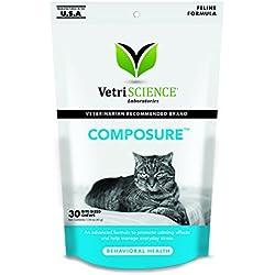 VetriScience Laboratories - Composure Feline, 30 Bite-Sized Chews