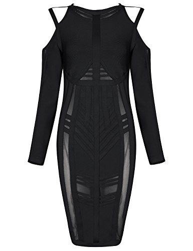 all black bandage dress - 7