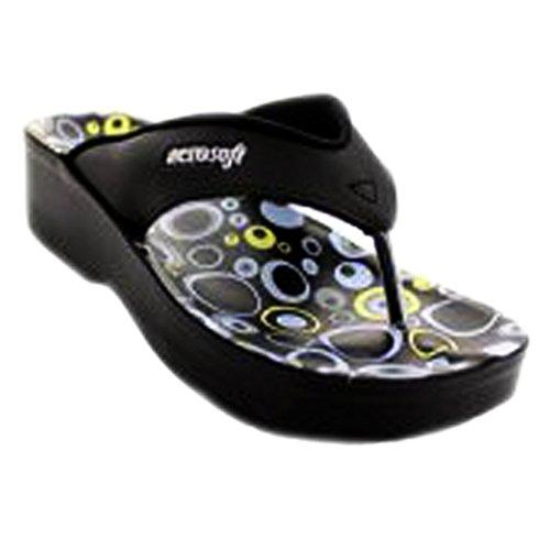 Aerosoft Accra Zwarte Sandalen Voor Dames - 6 M Us