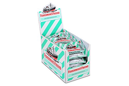 Fisherman's Friend Sugar Free Mint Lozenges, Mint, 20 Count (Pack of 24)