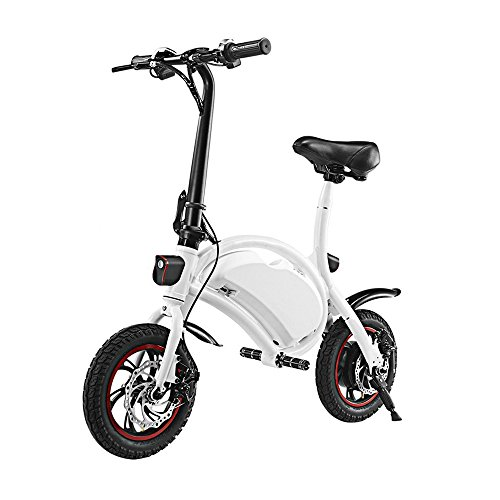 Garain Smart E-Bike – Folding Electric Bicycle Scooter with 12 Mile Range, 350W, Upgrade Technological App Speed Setting, Cruise Control Handlebar Display, Teens/Adults/Ladies E-Bike/Scooter (White)