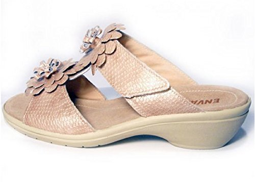 Sandali 40 59634 In Beige Made Enval Soft Italy Donna Vernice HEnqFx