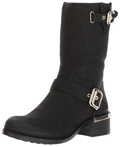 Vince Camuto Women's Windy Motorcycle Boot, Black, 7 Medium US