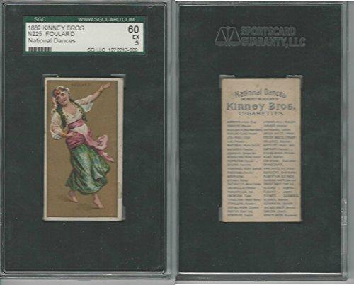 N225 Kinney, National Dances, 1889, Foulard, Algeria, SGC 60 EX