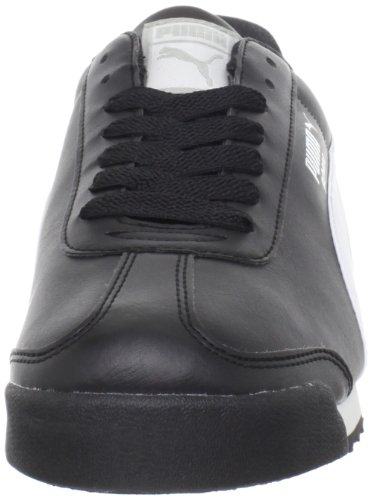 PUMA Men's Roma Basic Fashion Sneaker, Black/White/Silver - 12 D(M) US