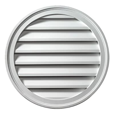 "Fypon FRLV22 22""W x 22""H Round Functional Louver from Ekena Millwork - DROPSHIP"