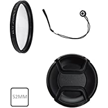 52mm UV Protection Filter Ultraviolet Filter For Nikon D3000, D3100, D3200, D5000, D5100, D5200, D7000, D7100, D7200, D80, D90, D100, D200, D300, D300S DSLR (For Lens with 52 mm Filter thread)
