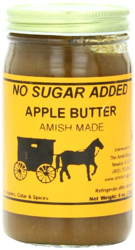 Amish Buggy No Sugar Added Apple Butter, 8 Ounce (Pack of 12) (Apple Butter No Sugar)