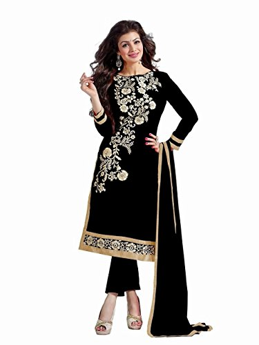 Anarkali-Salwar-Kameez-Designer-Indian-Bollywood-Ethnic-Bridal-Wedding-unstitched-black
