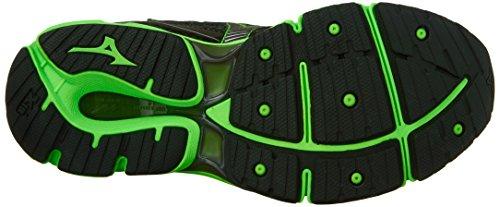 Mizuno Mens Wave Enigma 6 Running Shoe Black/Green Gecko/Dark Shadow NdpA7K