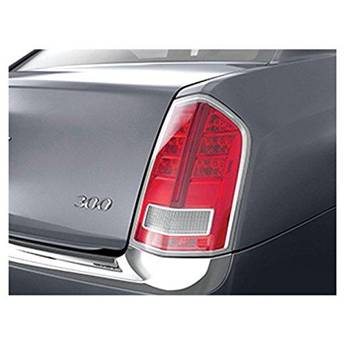 Upgrade Your Auto Premium FX Chrome Tail Light Bezels for 2011-2014 Chrysler 300/300C ()
