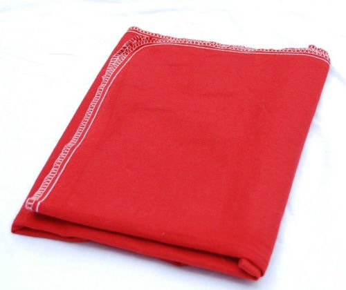 GHP Pack of 12 Red Flannel 28''x60'' Cloth Fender Cover/Seat Protector by Globe House Products