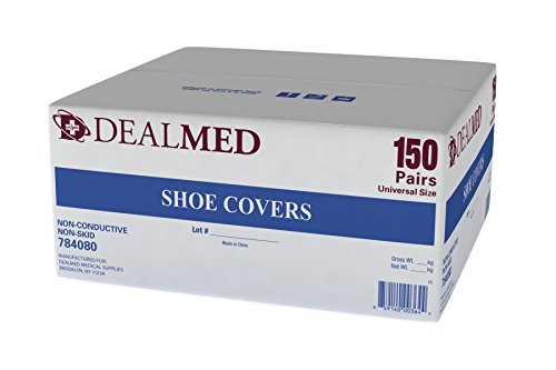 Dealmed Shoe Cover, Universal Size, Non-Conductive, Non-Skid (150) (Shoe Covers Skid)