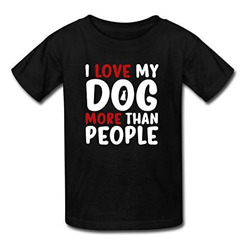 I Love Dog More Than People Kids Girls Boys T-Shirt