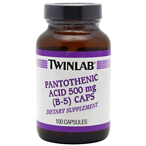 TWINLAB B-5 PANTOTHENC ACID 500MG, 100 CAP