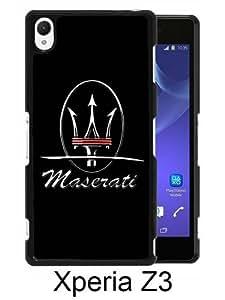 Sony Xperia Z3 Case ,Fashion And Unique Designed Sony Xperia Z3 Case With Maserati logo 5 Black Hight Quality Cover